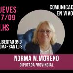 La Diputada Provincial Norma Moreno en nota con Fm Libertad